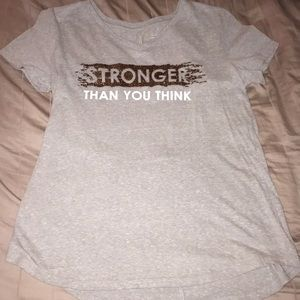 Stronger than you think workout top